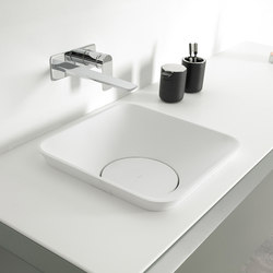 Fluent Encased Countertop Cristalplant® Washbasin | Wash basins | Inbani