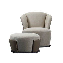 Rosaspina armchair & pouf | Lounge chairs | Promemoria