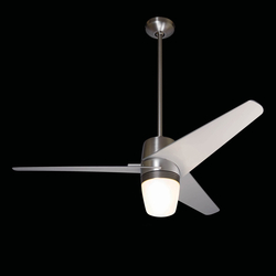Velo bright nickel with 850 light | Ventilators | The Modern Fan