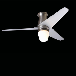 Velo hugger bright nickel with 850 light | Ceiling fans | The Modern Fan