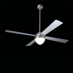 Ball brushed aluminum with 650 light | Ventilatori a soffitto | The Modern Fan