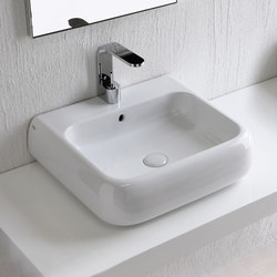Shui wall mounted and on top washbasin 54 | Lavabos | Ceramica Cielo