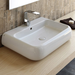 Shui wall mounted and on top washbasin 66 | Lavabos | Ceramica Cielo