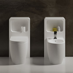 Smile Back to wall wc 53 | bidet 53 with Magicbox | Bidets | Ceramica Cielo