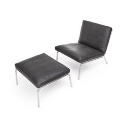 Man lounge chair & ottoman | Poltrone lounge | NORR11