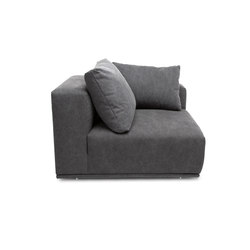 Madonna Sofa, Left Arm: Canvas Washed Black 066 | Modular seating elements | NORR11