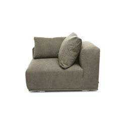 Madonna Sofa, Right Arm: Canvas Washed Green 156 | Sièges modulables | NORR11