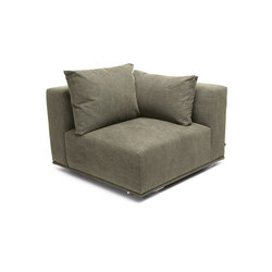 Madonna Sofa, Corner Left: Canvas Washed Green 156 | Elementos asientos modulares | NORR11