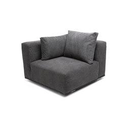 Madonna Sofa, Corner Right: Canvas Washed Black 066   Elementos asientos modulares   NORR11