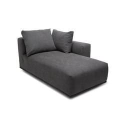 Madonna Sofa, Chaise Longue Left: Canvas Washed Black 066 | Sièges modulables | NORR11