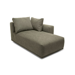 Madonna Sofa, Chaise Longue Left: Canvas Washed Green 156 | Elementi di sedute componibili | NORR11