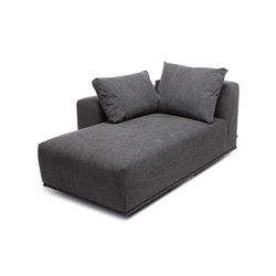 Madonna Sofa, Chaise Longue Right: Canvas Washed Black 066 | Elementi di sedute componibili | NORR11