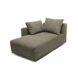 Madonna Sofa, Chaise Longue Right: Canvas Washed Green 156 | Modulare Sitzelemente | NORR11
