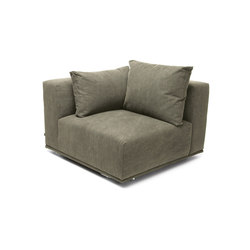 Madonna Sofa, Corner Right: Canvas Washed Green 156 | Elementos asientos modulares | NORR11