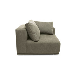 Madonna Sofa, Left Arm: Canvas Washed Green 156 | Elementi di sedute componibili | NORR11