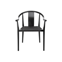 Shanghai Dining Chair, Paper Cord - Black/Black | Chairs | NORR11