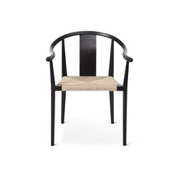 Shanghai Dining Chair, Paper Cord - Black/Natural | Chaises de restaurant | NORR11