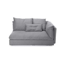 Macchiato Sofa, Left Arm: Kiss Stone 181 | Modular seating elements | NORR11