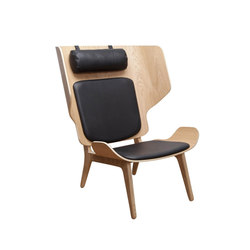 Mammoth Chair Slim, Natural / Leather - Premium Leather, Black | Sessel | NORR11