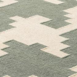 LTJ Kelim ivory & winter green | Tapis / Tapis design | kymo