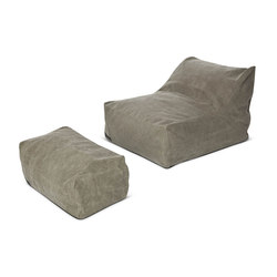 Club Series lounge seat & puff: Canvas Dark Green 011 | Poltrone lounge | NORR11