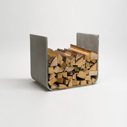 U-Board wood log holder | Fireplace accessories | lebenszubehoer by stef's