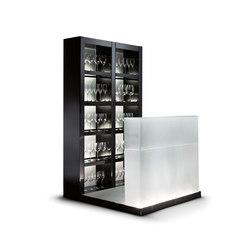 meubles rangement en verre
