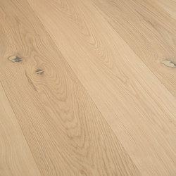 OAK Sand wide-plank brushed | white oil | Wood flooring | mafi