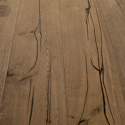 Magic OAK black hand-planed | grey oil | Wood flooring | mafi