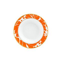 AURÉOLE COLORÉE Soup plate | Dinnerware | FÜRSTENBERG