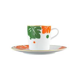 AURÉOLE COLORÉE Cofee cup, saucer | Dinnerware | FÜRSTENBERG
