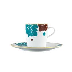 AURÉOLE COLORÉE Kaffeetasse 2-tlg. | Geschirr | FÜRSTENBERG