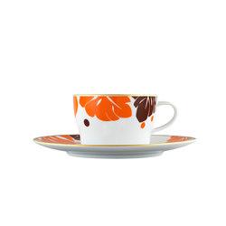 AURÉOLE COLORÉE Tea/Cappuccino cup, saucer | Dinnerware | FÜRSTENBERG