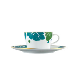 AURÉOLE COLORÉE Tea/Cappuccino cup, saucer | Services de table | FÜRSTENBERG