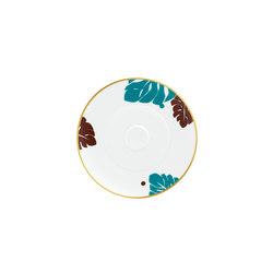 AURÉOLE COLORÉE Saucer | Dinnerware | FÜRSTENBERG