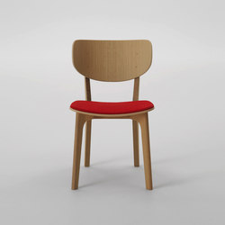 Roundish Armless Chair (Cushioned seat) | Sillas para restaurantes | MARUNI