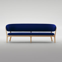 Roundish Three Seater Sofa | Divani lounge | MARUNI