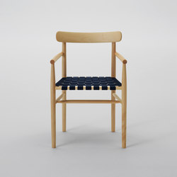 Lightwood Armless Chair (Webbing Seat) | Chairs | MARUNI