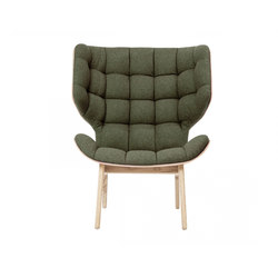 Mammoth Chair, Natural / Wool: Forest Green 053 | Lounge chairs | NORR11