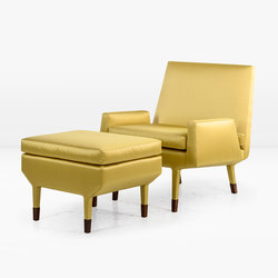 Angott Club Chair with ottoman | Armchairs | Khouri Guzman Bunce Lininger
