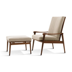 Denny Armchairs with Footrest | Loungesessel | Giorgetti