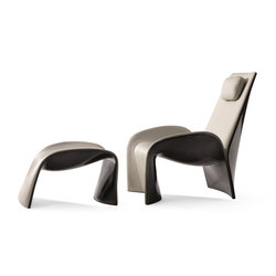 Eva Armchair with Footrest | Loungesessel | Giorgetti
