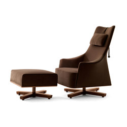 Mobius Wing Chair with Footrest | Armchairs | Giorgetti