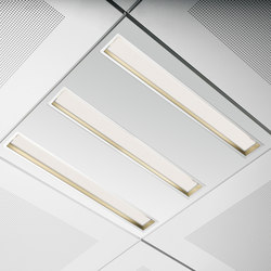 Long Mini Down triple | Recessed ceiling strip lights | Kreon