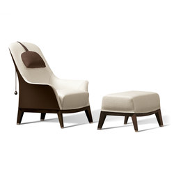 Gentil Normal Wing Chair With Footrest | Armchairs | Giorgetti