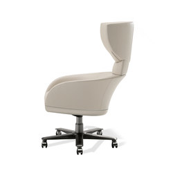 Selectus Swivel Wing Chair | Sillas de oficina | Giorgetti
