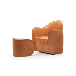 Exo armchair and pouf | Loungesessel | Eponimo
