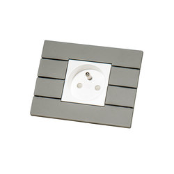 Piano by Lithoss | uni colour socket RAL7030 | Schuko sockets | Lithoss