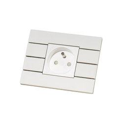 Piano by Lithoss | uni colour socket RAL9010 | Schuko sockets | Lithoss