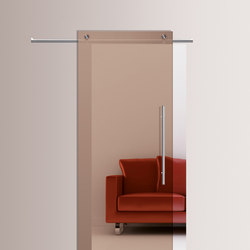 Sliding⎟Transparent Bronze | Internal doors | Casali